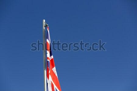 Banderą maszt Błękitne niebo wiatr kraju asia Zdjęcia stock © kb-photodesign