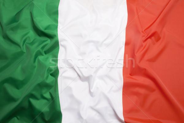 Bayrak İtalya futbol spor seyahat yüzme Stok fotoğraf © kb-photodesign