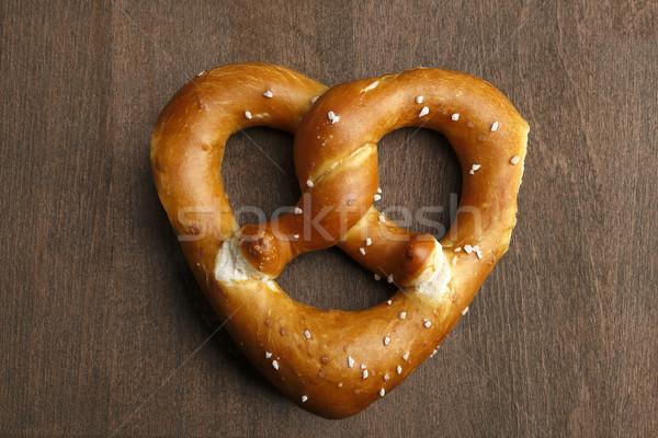 традиционный кренделек сердце коричневый любви фон Сток-фото © kb-photodesign