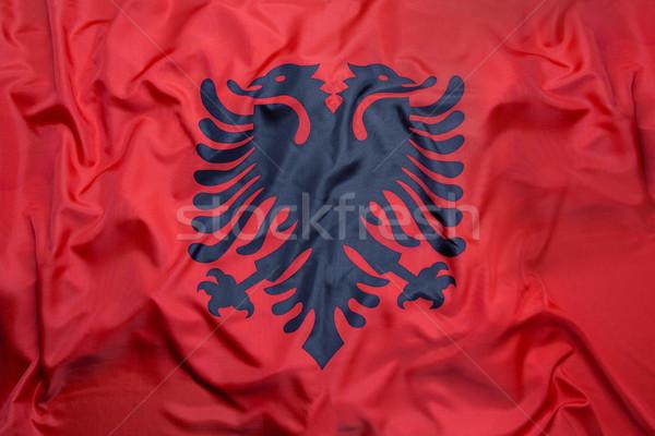 Bandeira Albânia futebol esportes viajar natação Foto stock © kb-photodesign