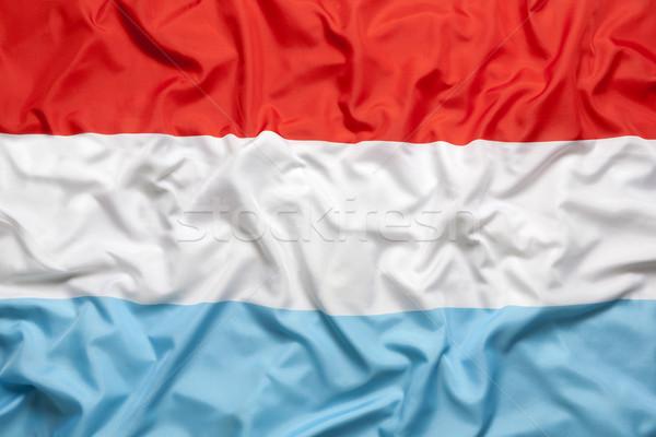 Têxtil bandeira fundo tecido branco país Foto stock © kb-photodesign