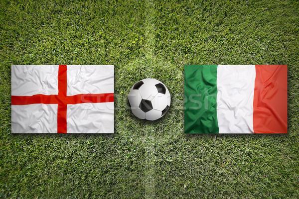 イングランド 対 イタリア フラグ 緑 ストックフォト © kb-photodesign