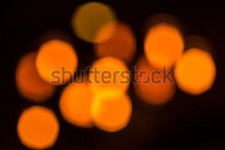 Homályos piros bokeh sötét háttér tél Stock fotó © kb-photodesign