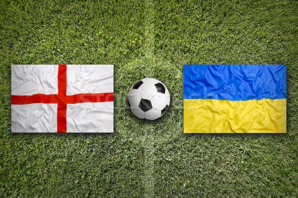 イングランド 対 ウクライナ フラグ 緑 ストックフォト © kb-photodesign