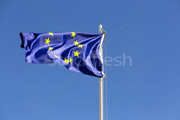 флаг европейский Союза флагшток Blue Sky знак Сток-фото © kb-photodesign