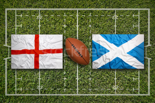 England vs. Scotland flags on rugby field Stock photo © kb-photodesign