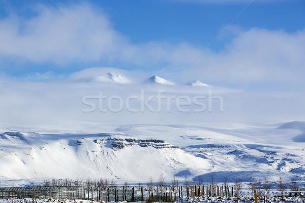 Montanha paisagem Islândia península nuvens neve Foto stock © kb-photodesign