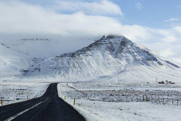 Impressionante vulcânico paisagem rua montanha segurança Foto stock © kb-photodesign