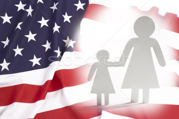 Single mother with daughter in United States Stock photo © kb-photodesign