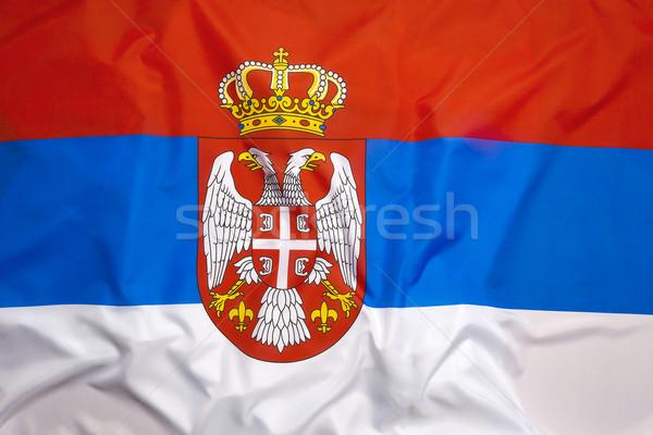 Bayrak Sırbistan imzalamak savaş seyahat ülke Stok fotoğraf © kb-photodesign
