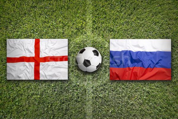 イングランド 対 ロシア フラグ 緑 ストックフォト © kb-photodesign