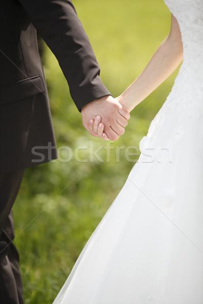 Kezek menyasszony vőlegény család férfi pár Stock fotó © kb-photodesign