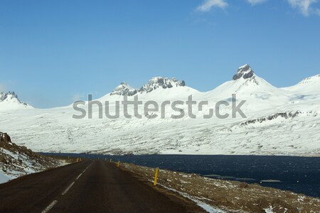 Ring road in Iceland, spring Stock photo © kb-photodesign