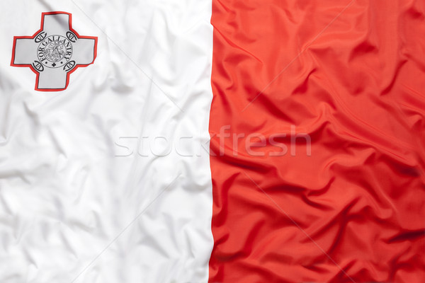 Textile flag of Malta Stock photo © kb-photodesign