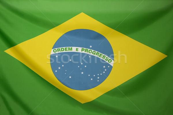Textiles bandera Brasil verde tejido América Foto stock © kb-photodesign