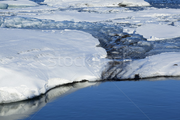 Melting ice at glacier lagoon Jokulsarlon, Iceland Stock photo © kb-photodesign