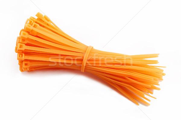 Kablo kravat turuncu beyaz bilgisayar teknoloji Stok fotoğraf © kb-photodesign