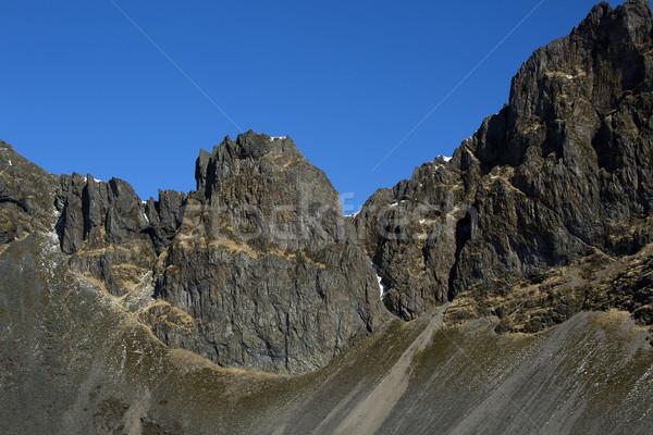 впечатляющий вулкан горные пейзаж Исландия весны Сток-фото © kb-photodesign