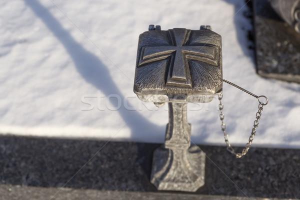 święty wody powłoki grobu kościoła zimą Zdjęcia stock © kb-photodesign
