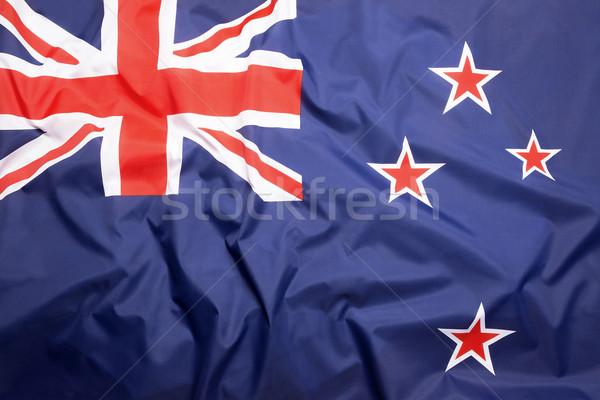 Zászló Új-Zéland sportok utazás vidék játékok Stock fotó © kb-photodesign