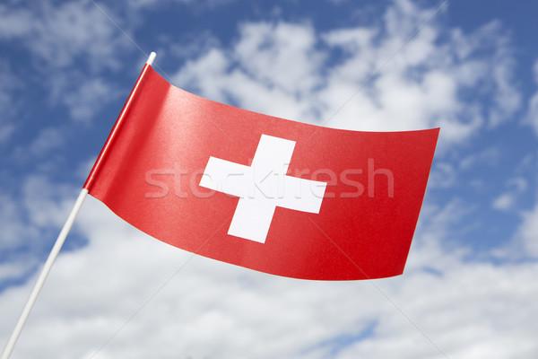 Bandiera cielo blu carta vento Europa Foto d'archivio © kb-photodesign