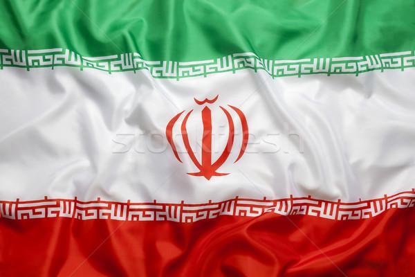 Textile flag of Iran Stock photo © kb-photodesign