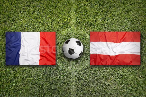 フランス 対 オーストリア フラグ 緑 ストックフォト © kb-photodesign