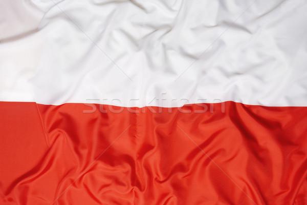 Bandera Polonia fútbol deportes natación Europa Foto stock © kb-photodesign