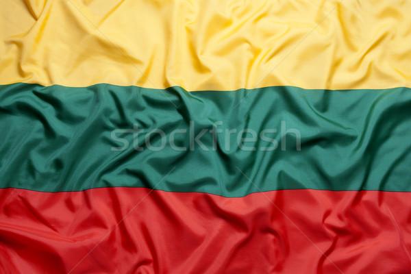 Tessili Bandiera Sfondo Tessuto Rosso Paese Foto D