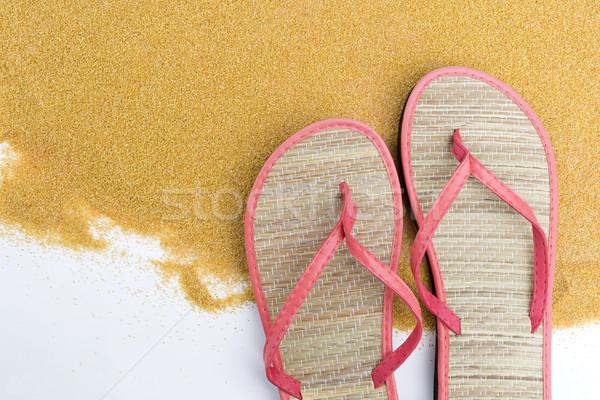 ピンク スペース 靴 旅行 砂 リラックス ストックフォト © kb-photodesign