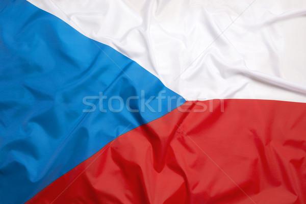 Bayrak Çek Cumhuriyeti futbol spor yüzme Avrupa Stok fotoğraf © kb-photodesign