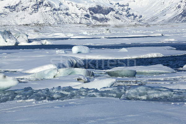 Global warming at glacier lagoon Jokulsarlon, Iceland Stock photo © kb-photodesign