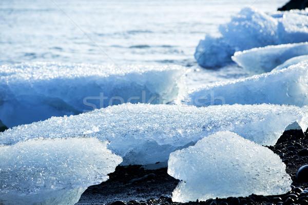 Ice floes at glacier lagoon Jokulsarlon Stock photo © kb-photodesign