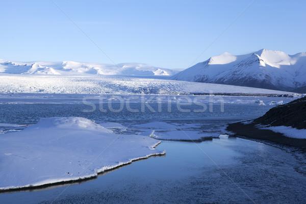 Geleira Islândia manhã luz oceano gelo Foto stock © kb-photodesign