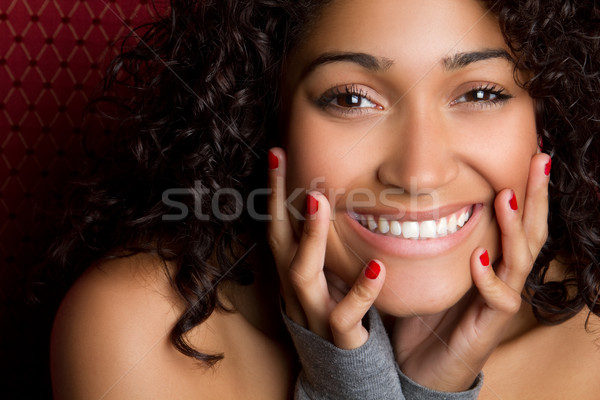Laughing Black Woman Stock photo © keeweeboy