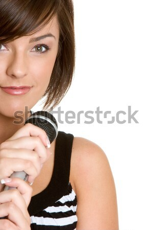 Microphone Girl Stock photo © keeweeboy