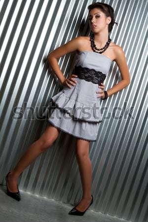 Moda kadın güzel genç seksi model Stok fotoğraf © keeweeboy