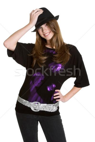 Stock photo: Girl Wearing Hat