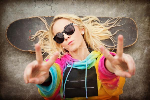 фигурист девушки мира знак подростков Сток-фото © keeweeboy