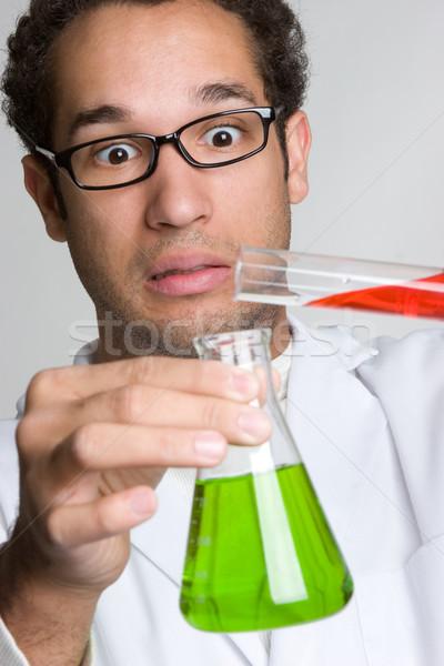 Bilim deney bilim adamı adam erkekler laboratuvar Stok fotoğraf © keeweeboy
