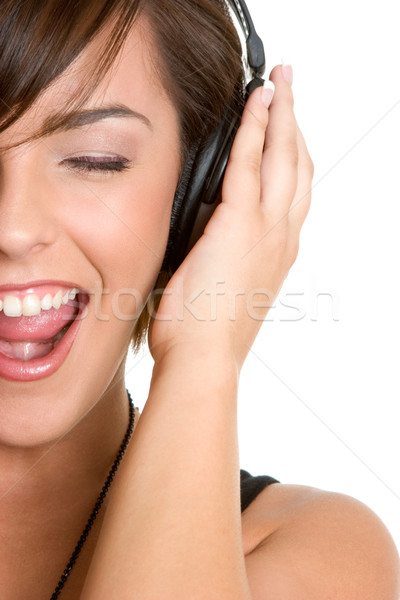 Music Listening Girl Stock photo © keeweeboy
