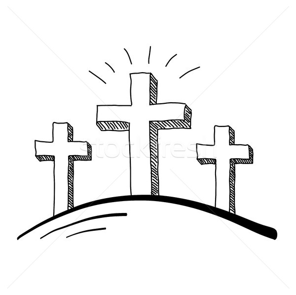 Three Crosses Doodle Stock photo © keeweeboy