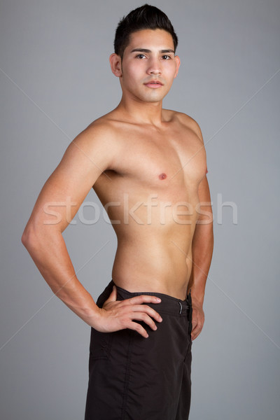 Shirtless Man Stock photo © keeweeboy