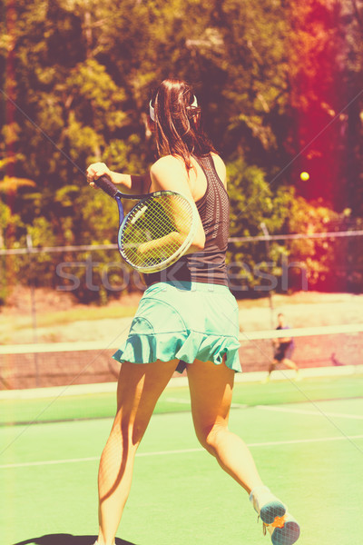Woman Tennis Player Stock photo © keeweeboy