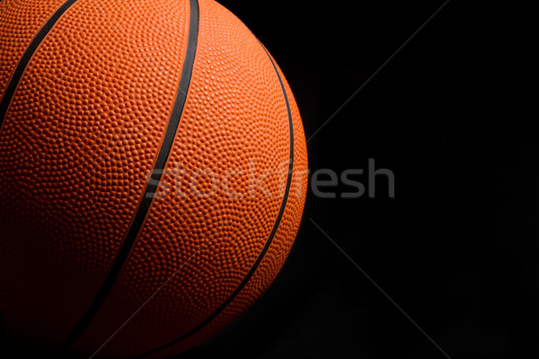 Basketbol turuncu siyah spor top karanlık Stok fotoğraf © keeweeboy