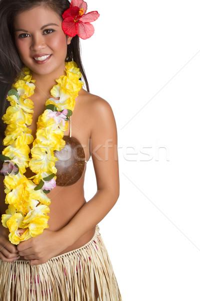 Ragazza ballerino donna felice capelli tropicali Foto d'archivio © keeweeboy