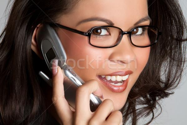 Telefono donna bella donna sorridente ragazza sexy Foto d'archivio © keeweeboy