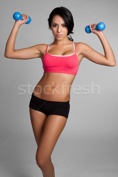 Stock photo: Fit Woman Exercising