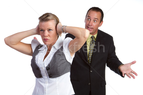 Fighting Couple Stock photo © keeweeboy