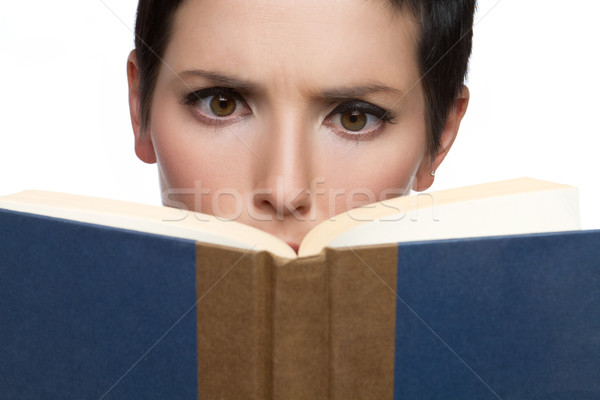 Woman Reading Book Stock photo © keeweeboy